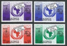Tanzania. 1980 PAPU Plenipotentiary Conference. MNH Complete Set. SG 298-301 - Tanzania (1964-...)