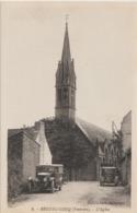 BEUZEC - CONQ ( Finistère ) - L'Eglise. Véhicules Anciens Devant L'Eglise. - France