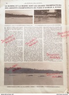 1925  JUVISY - LE ROWING ET LA MARNE LES GRAND TRIOMPHATEURS DES CHAMPIONNAT DE PARIS D'AVIRON - Periódicos
