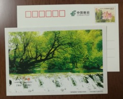 Yuehe River Stream,China 2012 Charming Shangluo Spring Landscape Advertising Pre-stamped Card - Holidays & Tourism