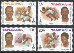 Tanzania. 1980 Olympic Games, Moscow. MNH Complete Set. SG 302-305 - Tanzania (1964-...)