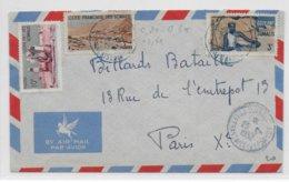 COTE DES SOMALIS - 1952 - ENVELOPPE Par AVION De DJIBOUTI => PARIS - Lettres & Documents