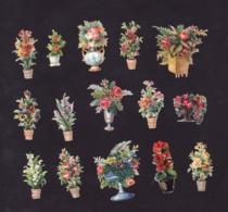 Découpis   Lot De 15    Pots De Fleurs       5.5 X 4.5 Cm Le Plus Grand - Découpis
