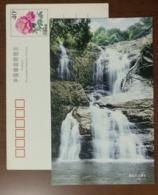 Jiulong Waterfall,China 1999 Hengxian Landscape Advertising Pre-stamped Card - Holidays & Tourism
