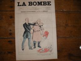 - JOURNAL, LA BOMBE Du 24 Mars 1889, 2 Pages, TBE - 1850 - 1899