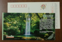 Jiulong Waterfall,forest,China 2011 Green Nanning Landscape Advertising Pre-stamped Card - Holidays & Tourism