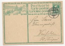 """Schweiz Suisse 1929: Bild-PK CPI """"DAVOS"""" Mit Stempel AMBULANT 30.IV.29 Nach Weinfelden - Interi Postali"""