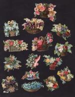 Découpis   Lot De 15    Paniers De Fleurs       6.5 X 4.8 Cm Le Plus Grand - Découpis