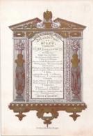 """BRUGGE-BRUGES""""HOTEL DU COMMERCE-MENU DU DINER-27 OCTOBRE 1844""""LITH.DEVELUY-243/167mm - Cartes Porcelaine"""