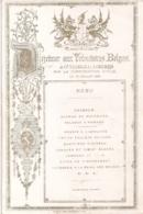 "LONDRES-LONDEN""MENU-DEJEUNER AUX VOLONTAIRES BELGES-12 JUILLET 1867-GUIDHALL"" 233/153MM - Cartoline Porcellana"
