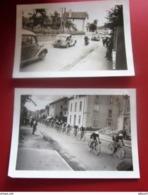 10-7-1936 PASSAGE 30é TOUR DE FRANCE CYCLISTE à THILLOT Vosges -VOITURE AUTOMOBILE-Photographie-Photo Originale 2 Photos - Ciclismo