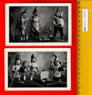 2 Kaarten Antwerpen  Appox.1925  HILDEBERT DERRE Muizenstraat 21 Kabouters Beelden Vlaamsche Koppen Kunstenaar DWERGEN - Autres