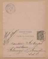 CARTE LETTRE TYPE SEMEUSE LIGNEE 15C VERT  CHAGNY  A NEVERS  BLANZY S/ BOURBINEE VOIR PHOTOS - Letter Cards