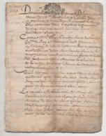 Saint Genest Malifaux Saint Etienne 1689 De 24 Pages 4 Dernières Pages Tâchées - Manuscrits