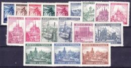 Boheme Et Moravie 1939 Mi 20-37 (Yv 20-37), (MNH)** - Unused Stamps