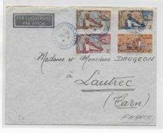 COTE DES SOMALIS - 1950 - ENVELOPPE Par AVION De DJIBOUTI => LAUTREC - Lettres & Documents