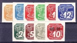Boheme Et Moravie 1939 Mi 42-51 (Yv TPJ 1-10), (MNH)** - Unused Stamps