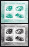 Bulgaria 2016 WWF Turtles Blackprints 2 SSs MNH - Nuevos