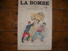 - JOURNAL, LA BOMBE Du 1er Septembre 1889, 2 Pages, - Periódicos