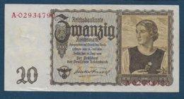 ALLEMAGNE - Billet De 20 Mark De 1939 - [ 4] 1933-1945 : Third Reich