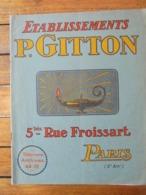 CATALOGUE, VERRERIES, CRISTAUX, ARTICLES D'ECLAIRAGE - ETS PAUL GITTON, PARIS 3 Eme - 24 Pages - VOIR SCAN - Advertising