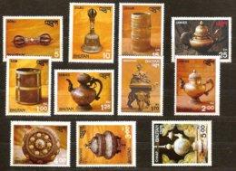 Bhutan Bhoutan 1979 Yvertnr 528-538 *** MNH Cote 10 Euro Artisanat Antiquités - Bhoutan