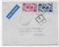 COTE DES SOMALIS - 1944 - ENVELOPPE Par AVION De DJIBOUTI Avec CENSURE FRANCE LIBRE => MARSEILLE - Lettres & Documents