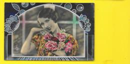 Femme Et Fleurs Art Déco (SOL 4137) - 1900-1949