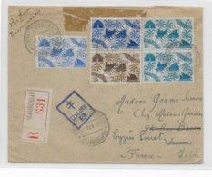 COTE DES SOMALIS - 1945 - ENVELOPPE RECOMMANDEE Par AVION De DJIBOUTI Avec CENSURE FRANCE LIBRE => VIENNE - Lettres & Documents