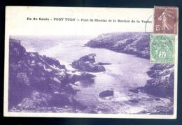 Cpa Du 56 Ile De Groix Port Tudy -- Port St Nicolas Et Le Rocher De La Vache   LZ112 - Groix