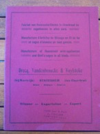 CATALOGUE, ARTICLES DE MENAGES EN FIL DE FER - DRECQ, VANDENBROUCKE ET VUYLSTEKE - 50 PAGES - VOIR SCAN - Publicidad
