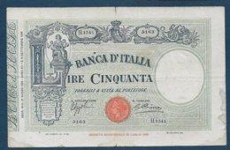 ITALIE - Billet De 50 Lire De 1934 - [ 1] …-1946 : Royaume