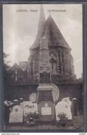 Carte Postale 59. Louvil  Le Monument Aux Morts Et L'église Trés Beau Plan - Autres Communes
