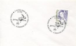 47270 Italia, Special Postmark 2002 Pavia,memorial Abelardo,showing Scuba Diver, Taucher,plongeur - Tauchen