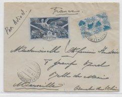 COTE DES SOMALIS - 1947 - ENVELOPPE Par AVION De DJIBOUTI  => MARSEILLE - Lettres & Documents