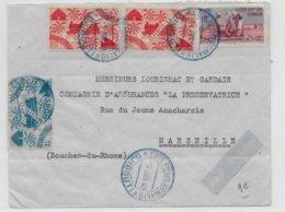 COTE DES SOMALIS - 1949 - ENVELOPPE Par AVION De DJIBOUTI  => MARSEILLE - Côte Française Des Somalis (1894-1967)