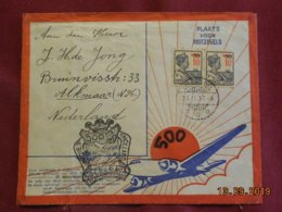 Lettre Des Indes Néerlandaises De 1937 Pour Alkmaar En Poste Aerienne - Niederländisch-Indien