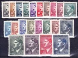 Boheme Et Moravie 1942 Mi 89-110 (Yv 77-98), (MNH)** - Unused Stamps