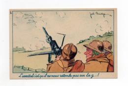 !!! PRIX FIXE, CARTE DE FRANCHISE MILITAIRE BYRRH GUERRE DE 40 ILLUSTREE PAR JOE BRIDGE - Poststempel (Briefe)