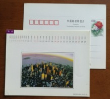 San Francisco Bay Area,Golden Gate Bridge,China 1999 Shanghai New Year Calendar Pre-stamped Card - Bridges