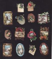 Découpis   Lot De 14    Paysages       5 X 3.5 Cm Le Plus Grand - Découpis