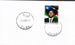 SOUTH SUDAN Unissued 2012 President Salva Kiir Stamp Cancelled On Cover Südsudan Soudan Du Sud - Sudán Del Sur