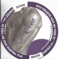 SOUS-BOCK THEME SIDA SANTE  PROTECTION RAPPORTS SEXUELS CAPOTE PRÉSERVATIF - Sous-bocks