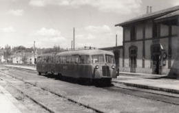 PHOTO ORIGINALE( 9X14) ( Autorail Verney) MAMERS 9.5.1953 - Trains