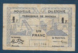 NOUVELLE CALEDONIE - Billet De 1 Franc De 1943 - Nouméa (Nuova Caledonia 1873-1985)