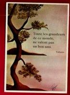 CP Toutes Les Grandeurs De Ce Monde Ne Valent Pas Un Bon Ami Voltaire - Illustrateur ? Signé - Ed Mic Max 5010 C 1980 - Philosophie & Pensées
