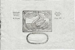 """LA ROCHELLE - ÉTIQUETTE ANCIENNE DE PHARMACIE - """"CUMSOLE ETSALE OMNIA FIUNT"""" Avec Un Cygne - Documents Historiques"""