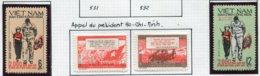 14671 VIET-NAM Du NORD Collection Vendue Par Page N° 533/4, 541/2 *   1967    TB - Viêt-Nam