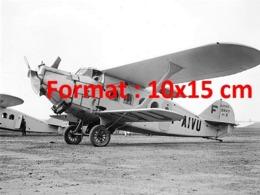Reproduction D'une Photographie Ancienne D'un Avion De Passagers Breguet Paris-Marseille Au Bourget En 1929 - Riproduzioni
