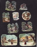Découpis   Lot De 20    Paysages       9.5 X 7 Cm Le Plus Grand - Découpis